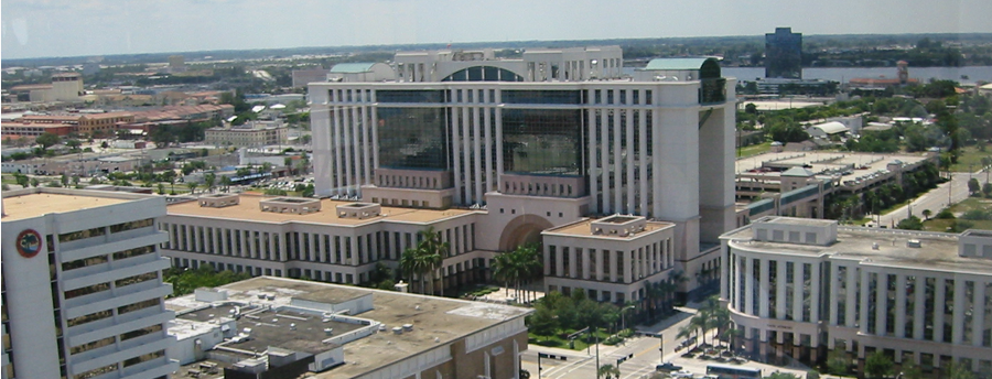 Aerial view of Palm Beach County Main Courthouse